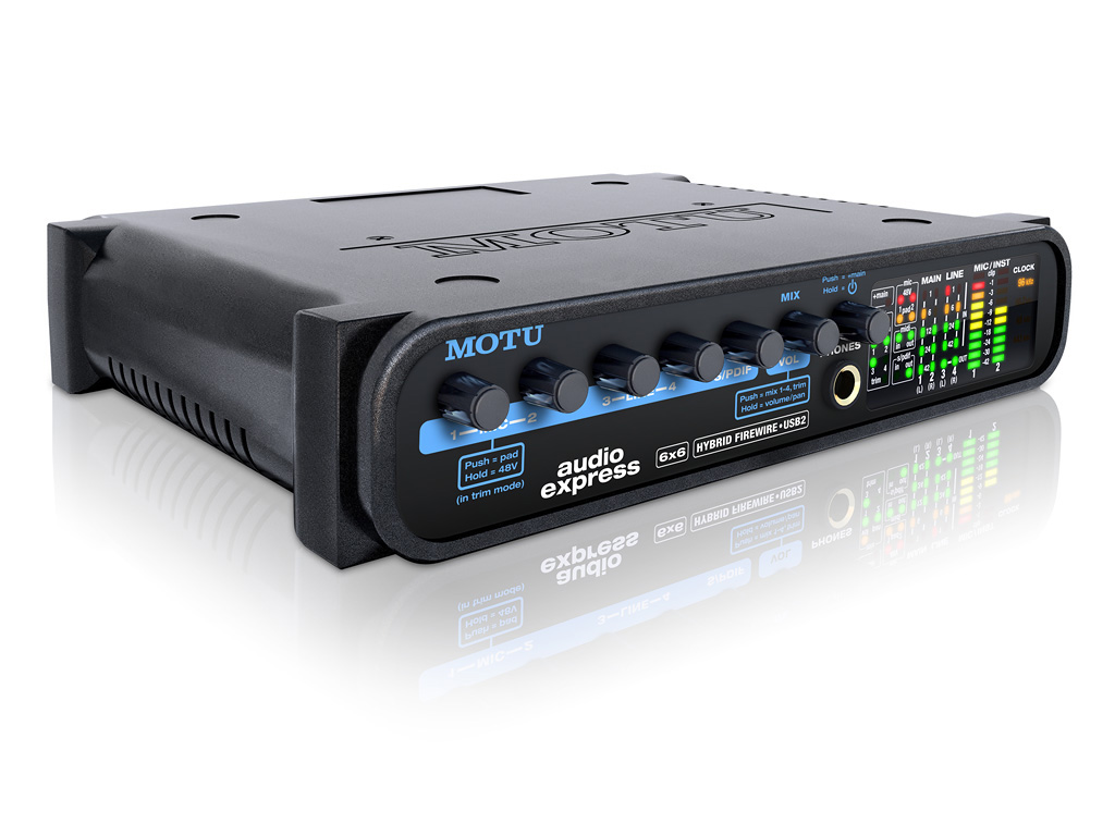 Motu Audio Express 6x6 Half-Rack Hybrid FireWire/USB2 Audio Interface