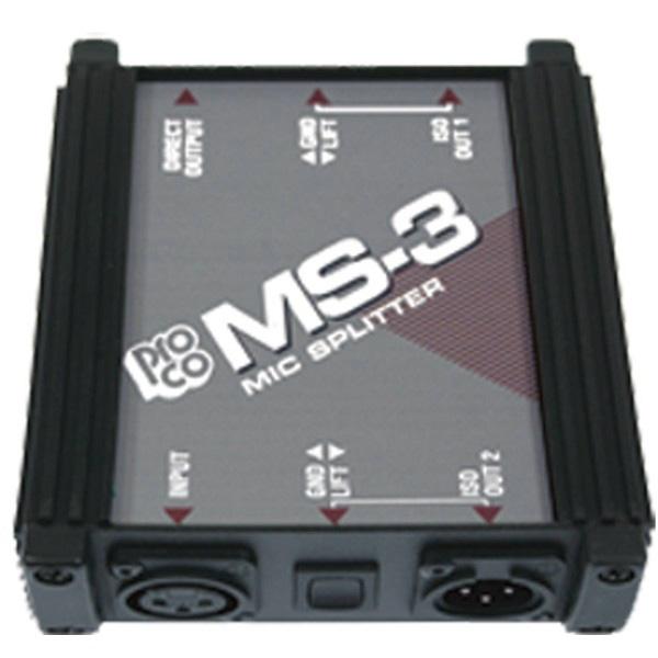 1-Into-3 Mic Splitter MS3