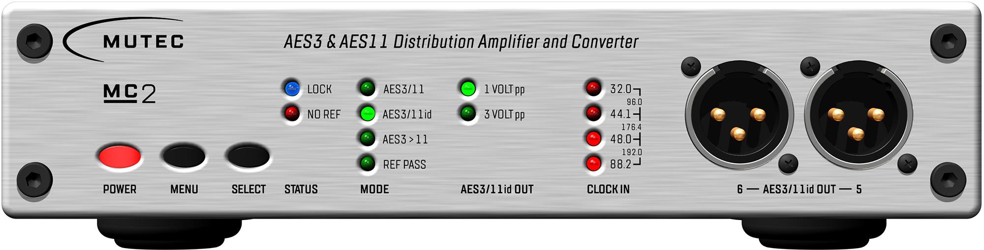 Mutec MC-2 Signal Distributor + Converter for AES formats MUT-MC-2