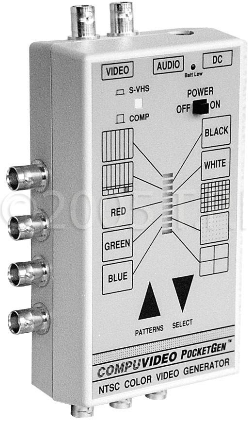 Compuvideo PocketGen 5XLR Handheld Video/Audio Tester with XLR