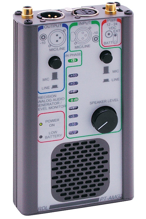 RDL PT-AMG2 Portable Audio Signal Generator & Monitor PT-AMG2