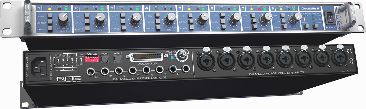 RME OctaMic II 8-Channel MicPreamp and AD converter to AES/EBU & ADAT