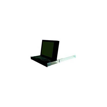 Recortec RMM-337 1U Rack Mount KVM Console w/Keyboard & 16mm Trackball
