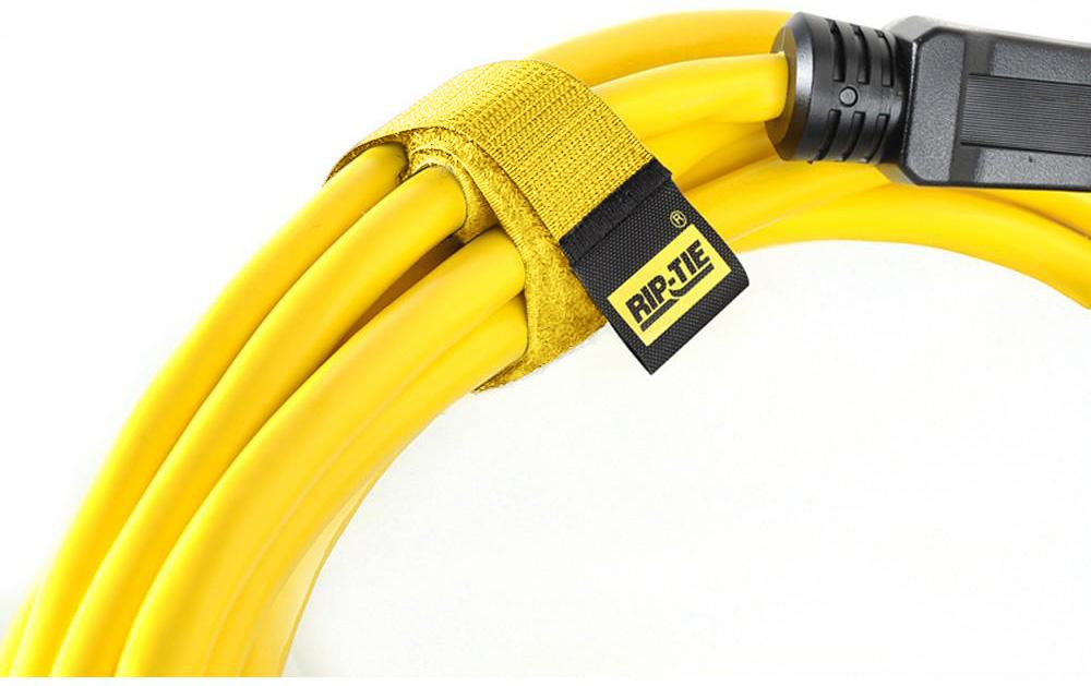 Rip-Tie CableWrap 1x21 YELLOW 100PK RT21-100-YW