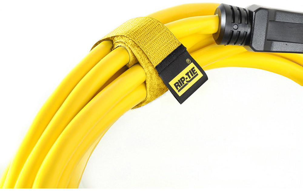 Rip-Tie CableWrap 1x3 Yellow 100 Pack RT3-100 YW