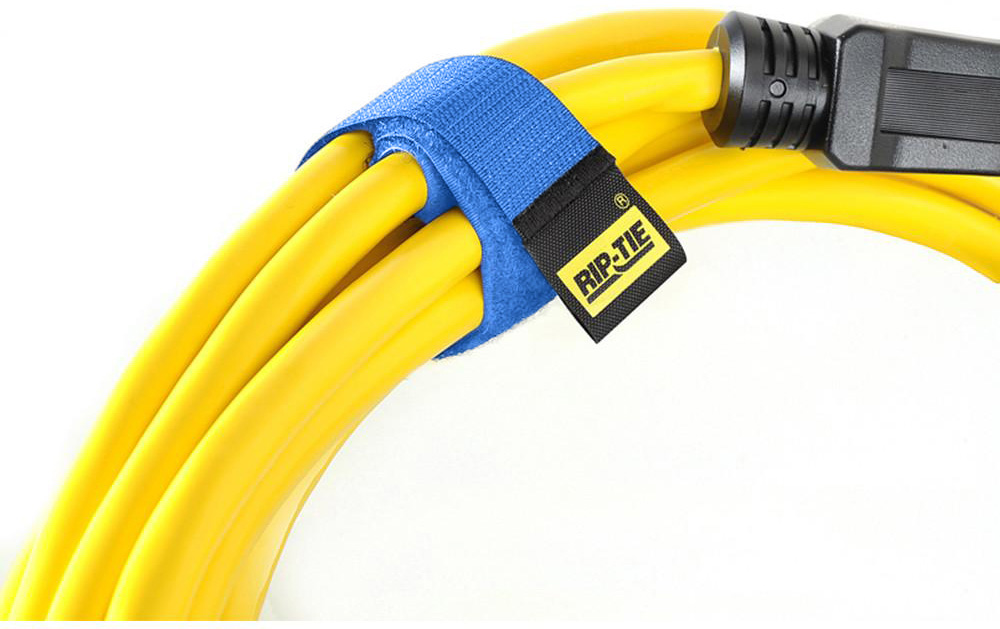 Rip-Tie CableWrap 1x9 Blue 100 Pack RT9-100BE
