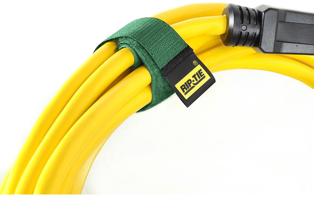Rip-Tie CableWrap 1x9 Green 100 Pack RT9-100GN