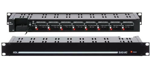 RDL SAS-8C 8 Station Audio Controller for SourceFlex Distributed Audio