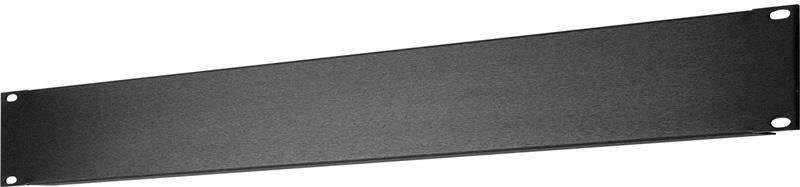 1 RU Black Anodized Aluminum Blank Rack Panel SHBL-1