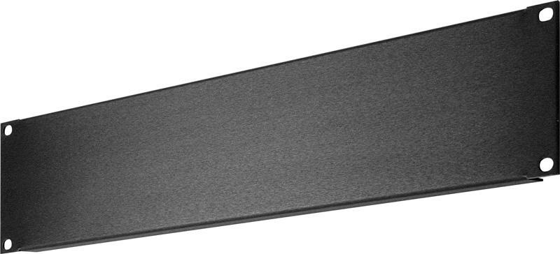 3 RU Black Anodized Aluminum Blank Rack Panel SHBL-3