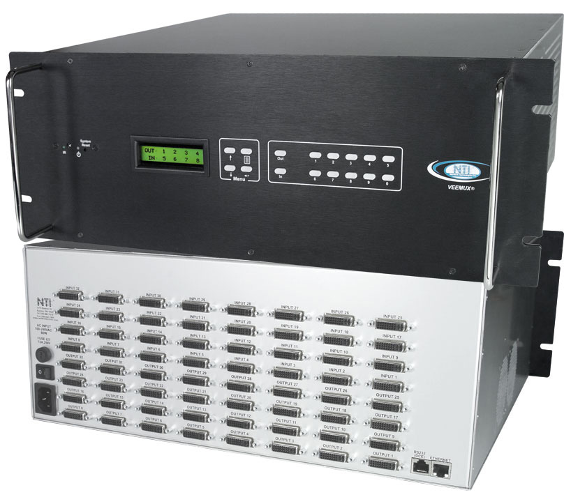 NTI SM-32X32-DVI-LCD DVI Video Matrix Switch SM-32X32-DVI-LCD