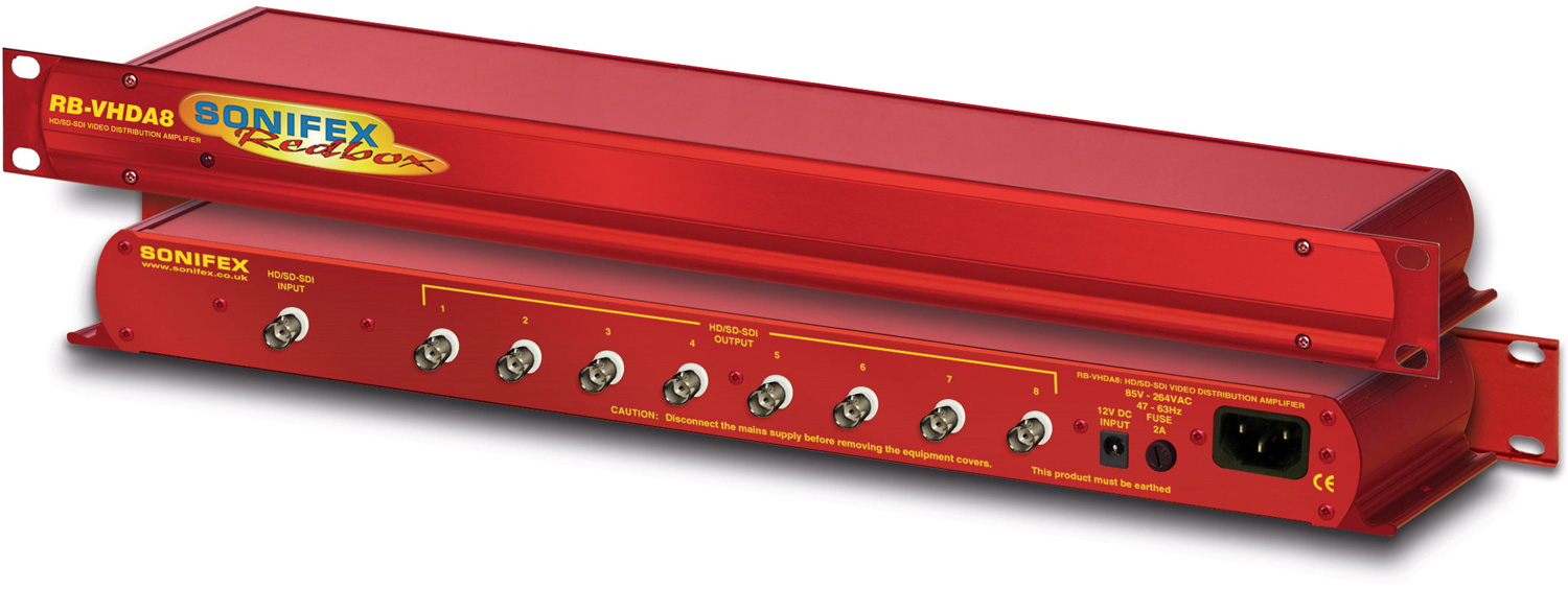 Sonifex Redbox RB-VHDA8 3G/HD/SD-SDI 1x8 Distribution Amplifier SON-RB-VHDA8