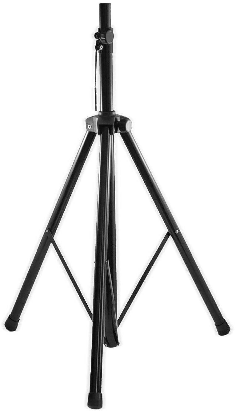 Connect Speaker Stand Aluminum Tripod Base 44-80in Height Black STNDSA