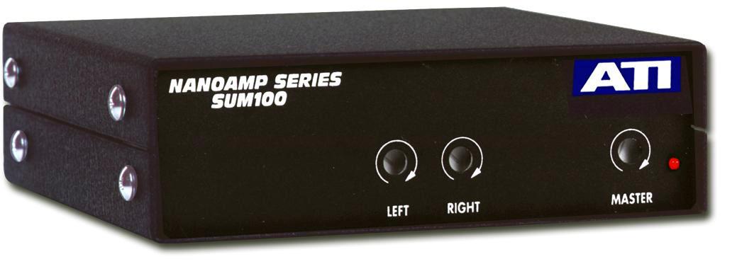 ATI SUM100-RCA 2 CH to 1 CH SUM100 with XLR and RCA I/O (Incl. Externa