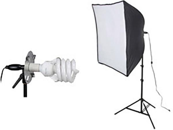 Smith-Victor 408085 KSB-500 500 Watt 1-Light Softbox Light Kit