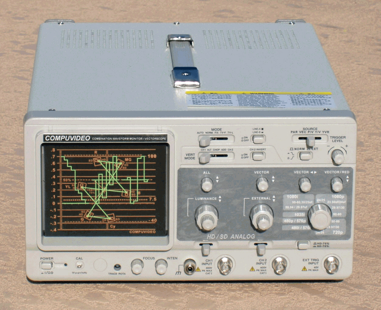 Digital/Analog Component/Composite Waveform Monitor SVR-1100DV