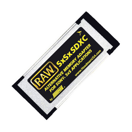 Hoodman RAW SXSXSDXC Alternative Memory Adapter for XDCAM Camcorders