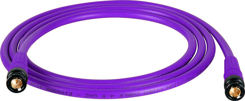 Belden 1694A SDI-HDTV RG6 Purple 100Ft. w/Trompeter B/G BNC