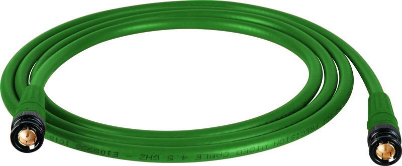 Belden 1694A SDI-HDTV RG6 Green 15Ft. w/Trompeter B/G BNC