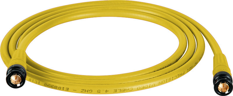 Belden 1694A SDI-HDTV RG6 Yellow 15Ft. w/Trompeter B/G BNC