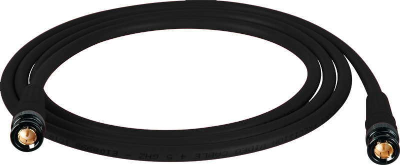 Belden 1694A SDI-HDTV RG6 Black 3Ft. w/Trompeter B/G BNC