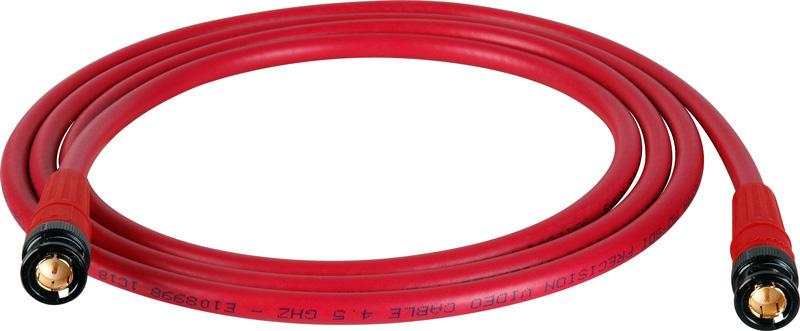 Belden 1694A SDI-HDTV RG6 Red 50Ft. w/Trompeter B/G BNC