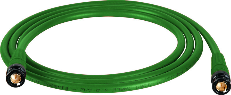 Belden 1694A SDI-HDTV RG6 Green 6Ft. w/Trompeter B/G BNC