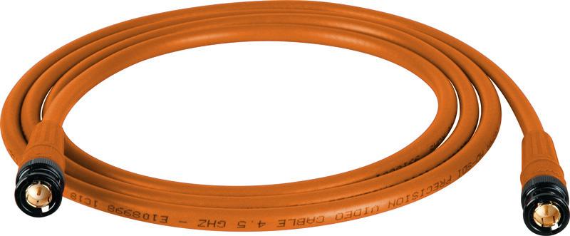 Belden 1694A SDI-HDTV RG6 Orange 75Ft. w/Trompeter B/G BNC