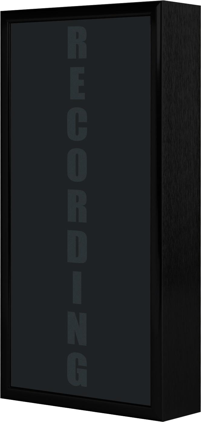Low Profile Vertical Studio Warning Light - RECORDING in Black Matte
