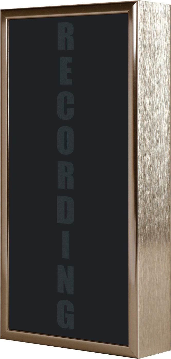Low Profile Vertical Studio Warning Light - RECORDING in Gold Tone