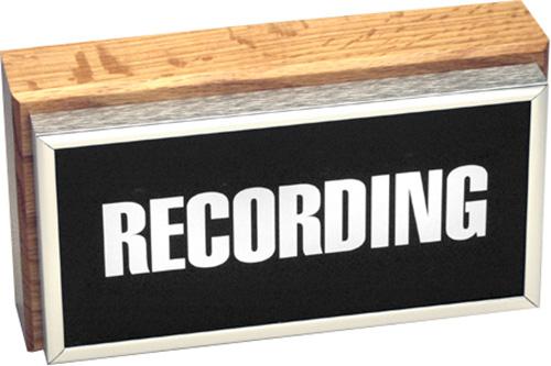 Horizontal Studio Warning Light - Recording in Silver Lettering TWL-2