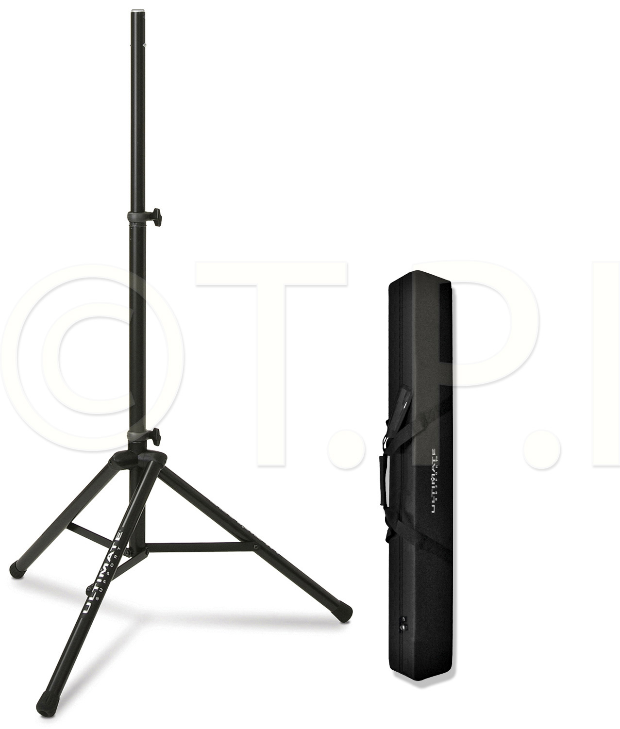 Ultimate Support TS-80B 3 Ft. 6 In-6 Ft. 7 In Speaker Stand w/BAG90 Bl
