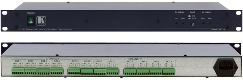 Kramer VM-1610 1x10 Balanced Audio Distribution Amplifier VM-1610