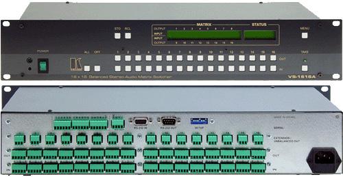 Kramer VS-1616A 16 x 16 Balanced Audio Matrix VS-1616A