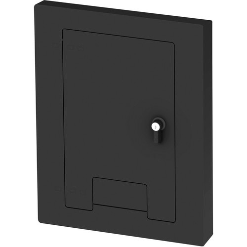 FSR WB-X1-CVR-BLK WB-X1 Cover w/ Lock and Cable Exit Door - Black