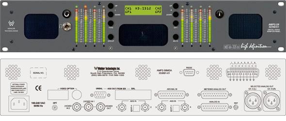 Wohler AMP2-S8MDA 8CH HD-SDI SD-SDI AES/EBU Analog Audio Monitor w/CH
