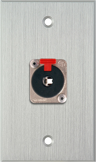 1G Clear Anodized Wallplate w/1 NJ3FP6C 1/4-In. TRS Latching Jack