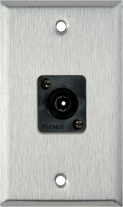 1 Gang Stainless Steel Wall PLate w/ 1 Toslink connector WPL-1209