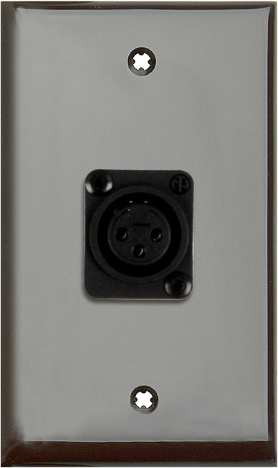 1G Brown Lexan Wall Plate with 1 NC3FD-L-1-B Connector WPLB-1115-BG