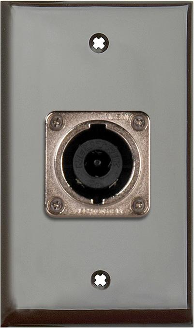 1G Brown Lexan Wall Plate w/1 Neutrik NL8MPR 8 Pole Speakon Connector