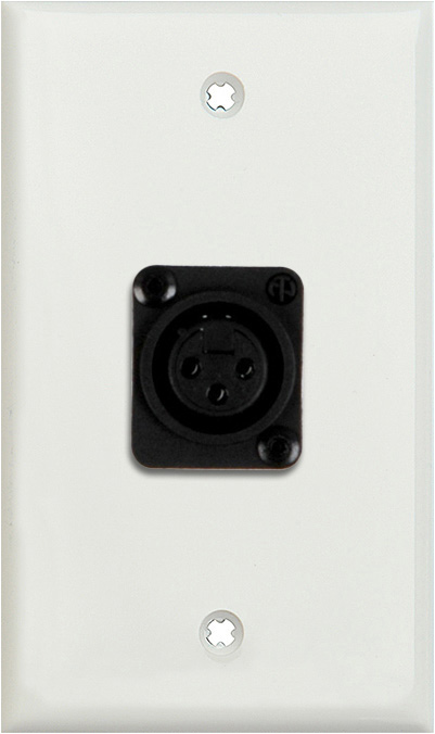 1G White Lexan Wall Plate with 1 NC3FD-L-1-B Connector WPLW-1115-BG