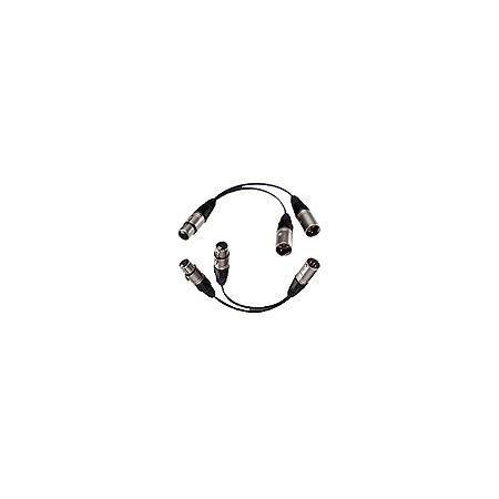 Bescor 4 Pin XLR Power Y-Adaptor 1Male to 2 Females 5 Inch Fan XLR-YF