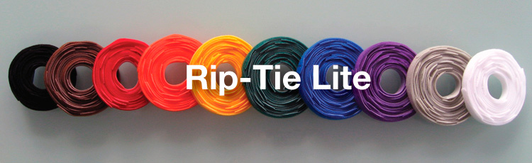 Rip-Tie Lite 1x10in Black 10 Rolls of 10 Y-10-HRL-BK