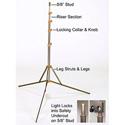 Lowel O1-33 Omni Stand 9 Foot Lighting Stand for Omni Lights