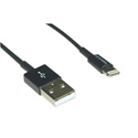 10LT-03-BK MFi Certified Lightning Cable to USB Cable - Black - 3 Feet