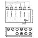 VAC 11-131-108 1x8 Composite Video DA with BNCs