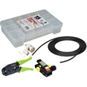 12G BNC Cable Making Kit with 20 Amphenol BNCs & 100 Foot Belden 4505R RG59 - Crimper & Stripper Included