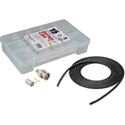 12G BNC Cable Making Kit with 20 Amphenol BNCs & 100 Foot Belden 4694R RG6