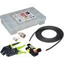12G BNC Cable Making Kit with 20 Amphenol BNCs & 100 Foot Belden 4694R RG6 - Crimper & Stripper Included