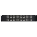 Switchcraft E Series 16-Point USB-A Front to USB-B Rear Feed-Thru Barrel Patch Panel - 2RU